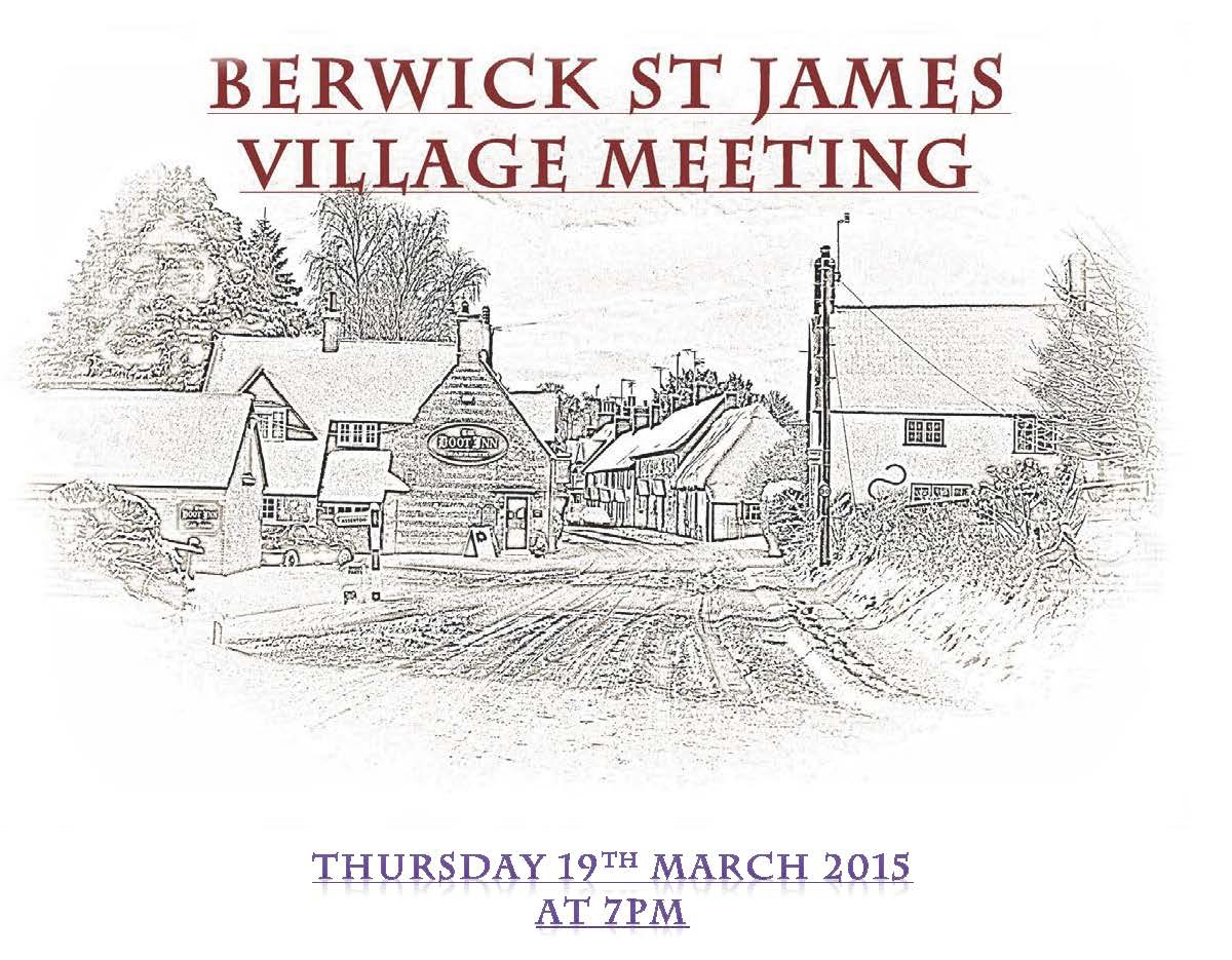 Berwick St James Parish Community 19 March '15