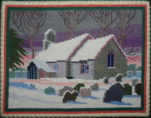 Kneeler St. Margaret's Church (winter scene)