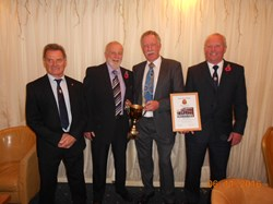 Team Members at the County Presentation Lunch, L to R: Mike Rawle, Mike Windsor, Dave Bishop & Tom Hall
