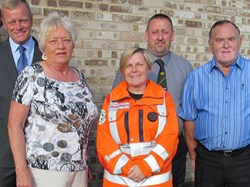 Cheque presentation to Magpas in 2014