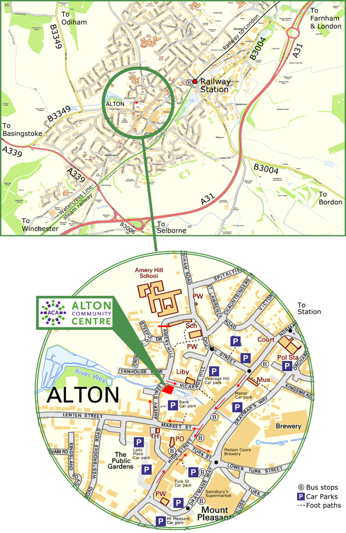How to find us, Alton Community Centre