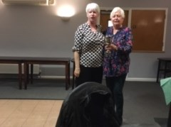 Two lovely ladies and well deserved winners: Wendy and Jean
