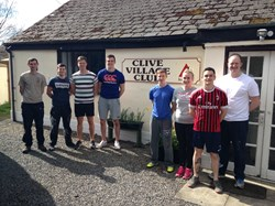 RAF Shawbury recruits who helped paint the Club House