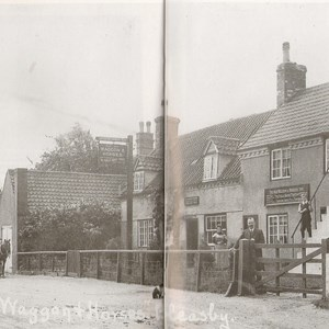 The Old Waggon and Horses c 1900 and Wheelwright Shop