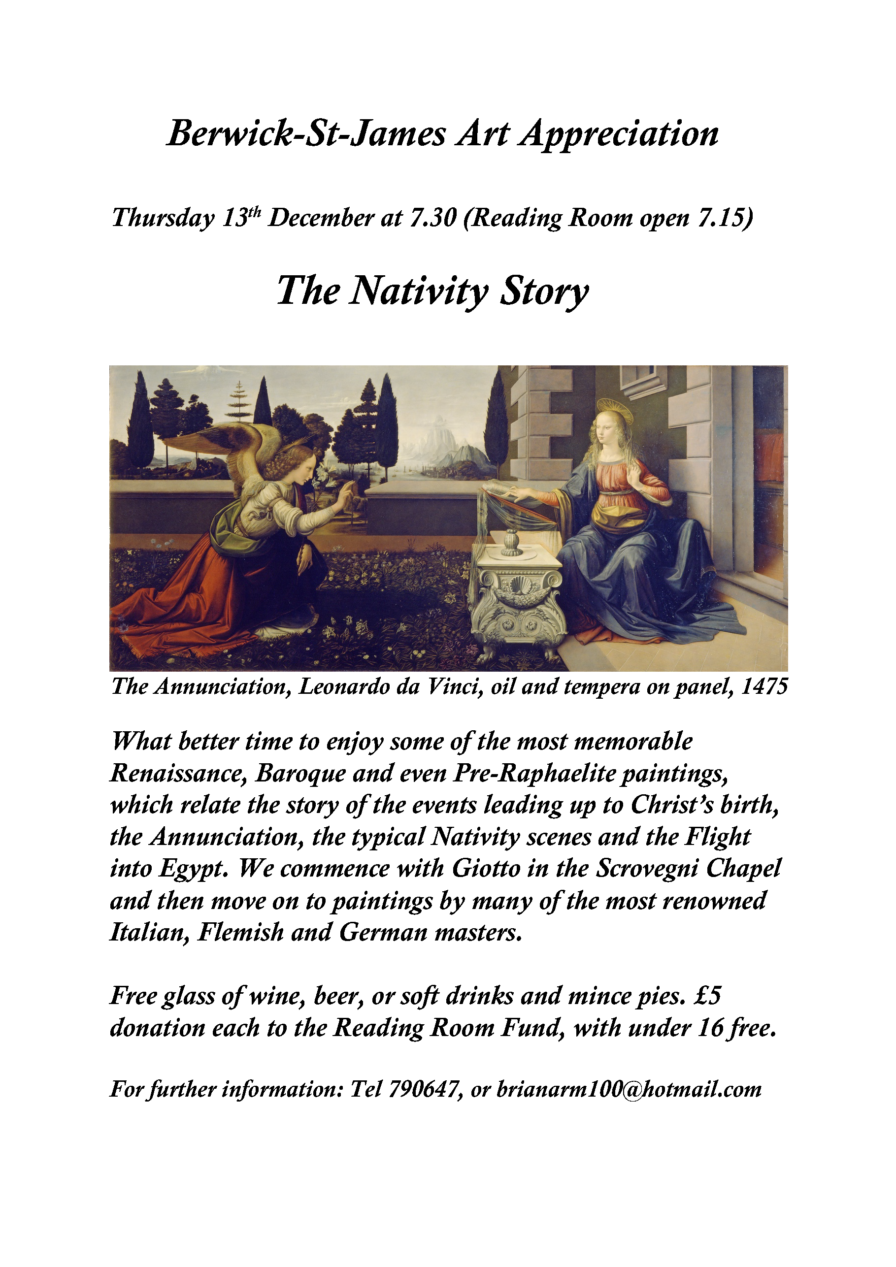 Berwick St James Parish The Nativity Story