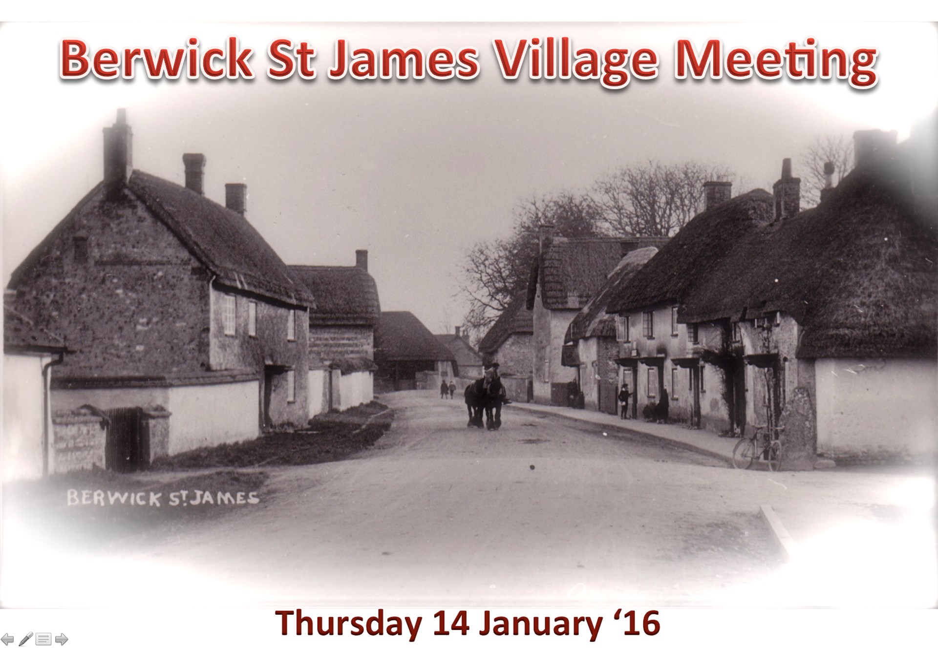 Berwick St James Parish Community 14 January '16