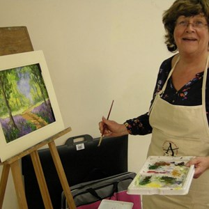 Maggie Cole who teaches Art at Alton Community Centre