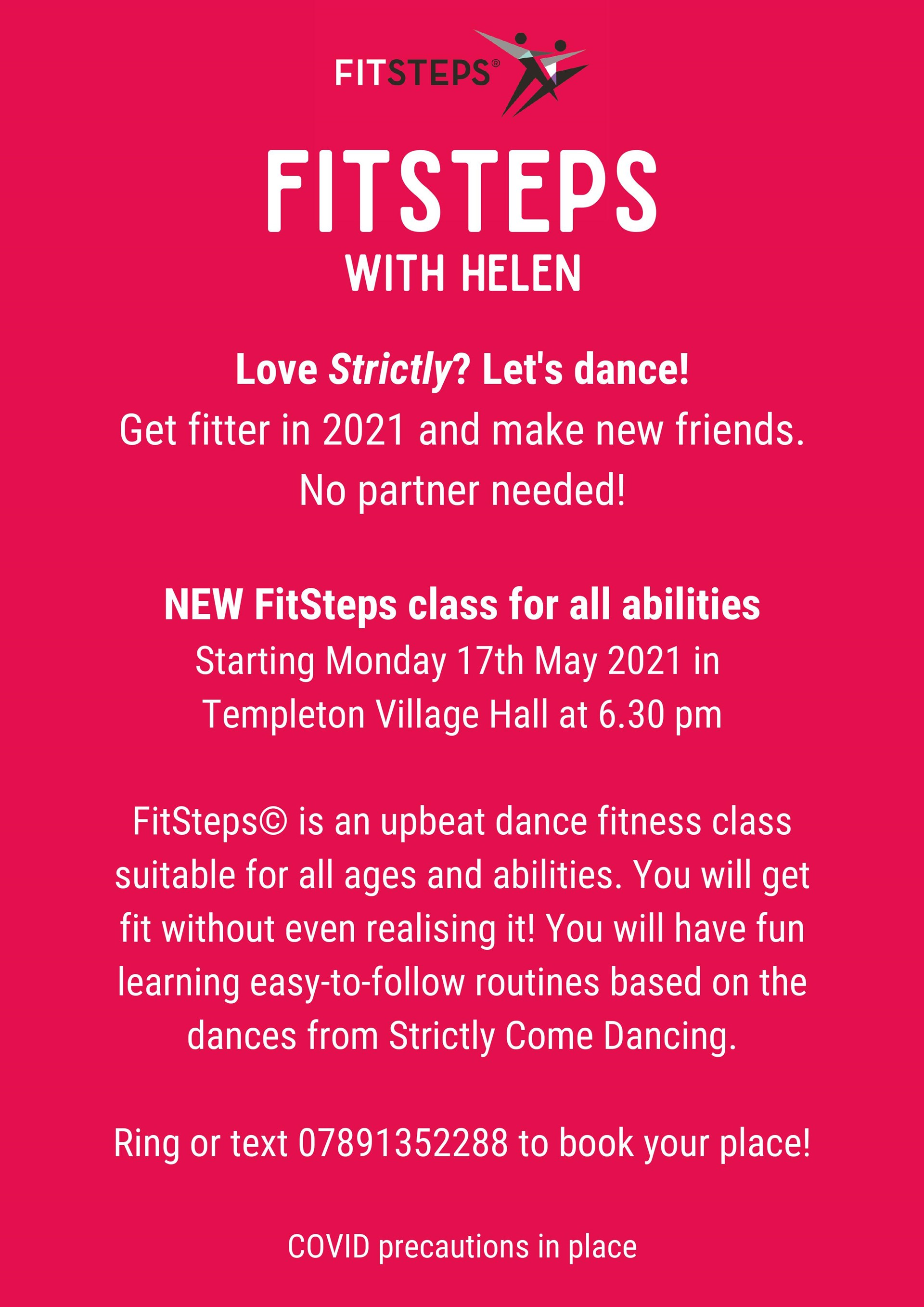 Strictly Fitsteps - startinig Monday evenings from 17th May