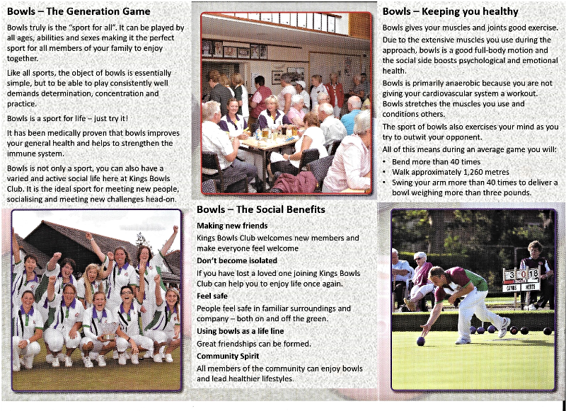 Kings Bowls Club Open Days