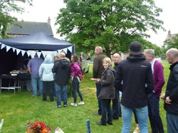 Queuing for the hog roast
