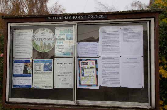 Noticeboard, Wittersham Parish Council