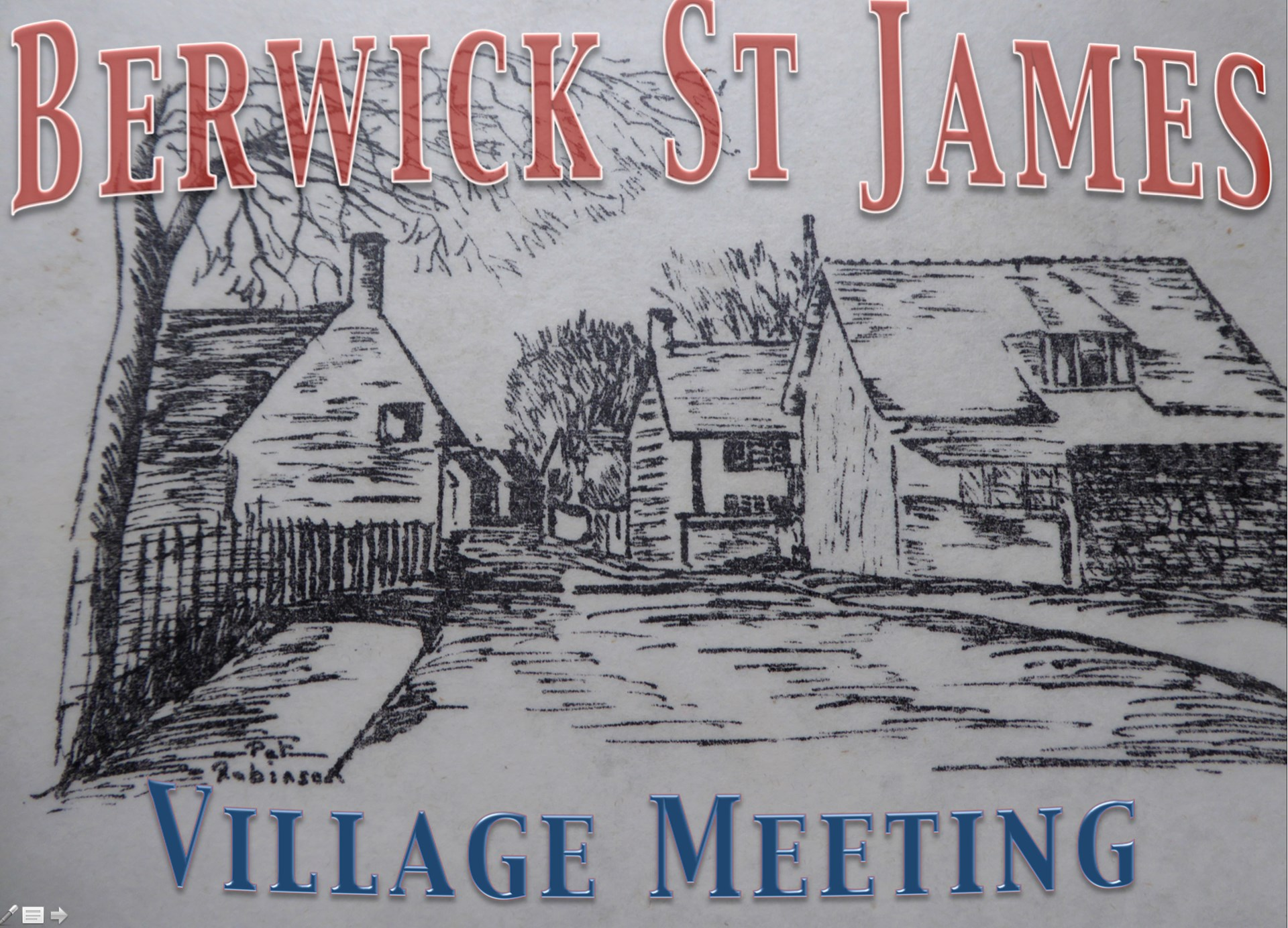 Berwick St James Parish Community Village Meeting - 2 October '17