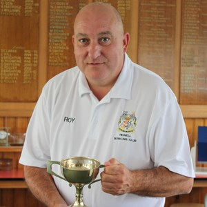 Mens 2 wood winner Roy Clarke