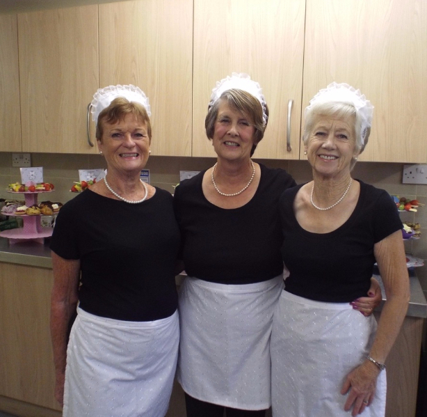 From Left To Right: Brenda, Jeanette, Betty - dressed for the part
