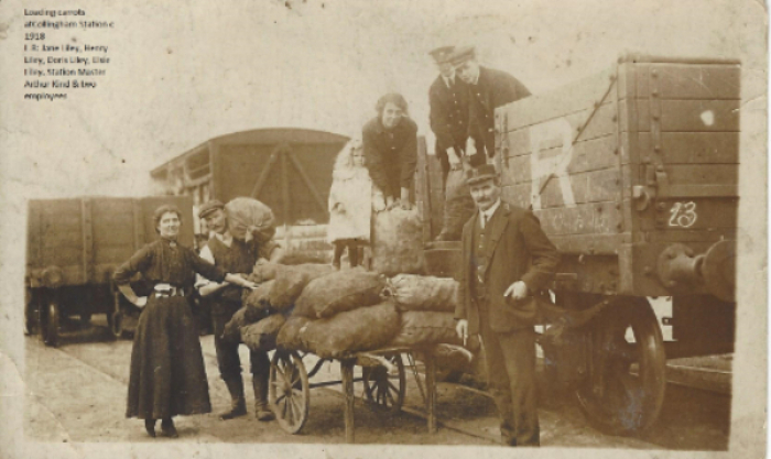 Jane Liley (left) helping husband Henry load carrots heading for market.