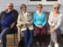 Eric, Margaret, Anne and Sheila having a lovely time in the sunshine