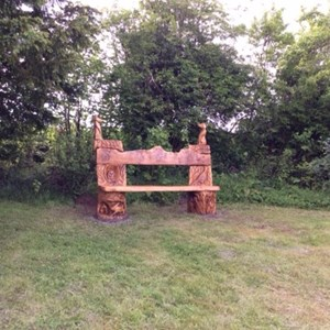 Abdon Memorial bench and garden