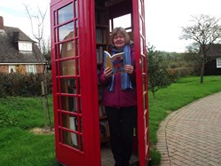 The phone box thats now a library !