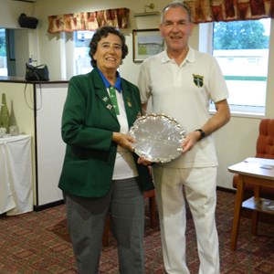 Section 8 Over 60 Singles Winner.Ron Jefferies