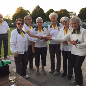 Victorious Ladies Team after defeating the Greenkeepers - 2019