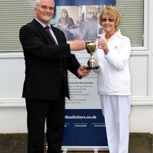 Championship. Janet Bishop. Presented by Paul Johnson.