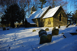 St. Margaret's Church in winter
