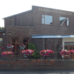 Westgate-on-Sea Social Club clearly showing Westgate in Bloom