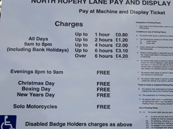 Parking Charges at May 2019