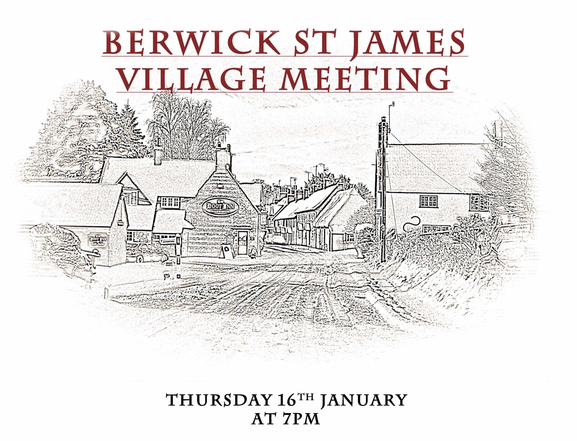 Berwick St James Parish Village Meeting - 16 January '14