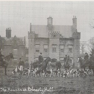 The Hounds at Bleasby Hall c 1905 Captain Marmaduke Langdale Kelham RN, JP , Lord of the Manor