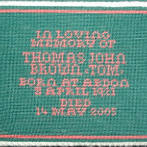 In memory of Thomas John Brown