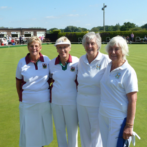 Betty Bell & Annette Oliver Pairs winners Leicester Co 2015 v Blaby