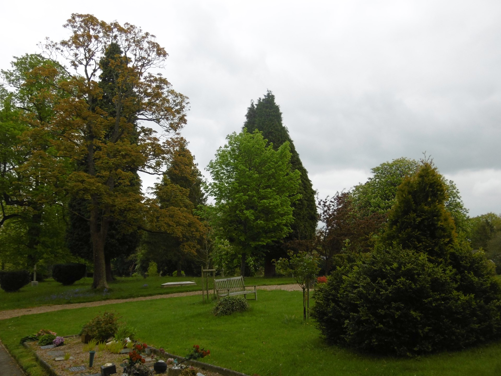 The Old Cemetery with the Garden of Remembrance in the foreground