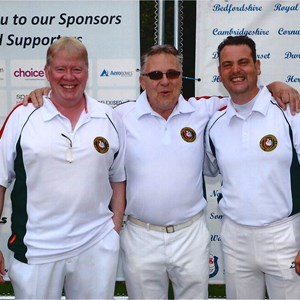 COUNTY TRIPLES CHAMPIONS 2015 : Don Savage (s), Clive Graves (1), Paul Seymour (2)
