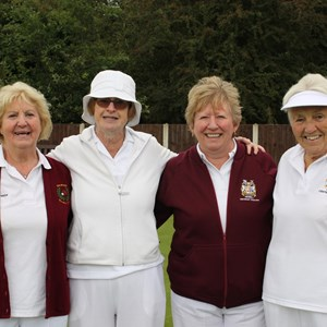 Ladies Pairs finalists