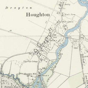 Victorian map showing South Houghton