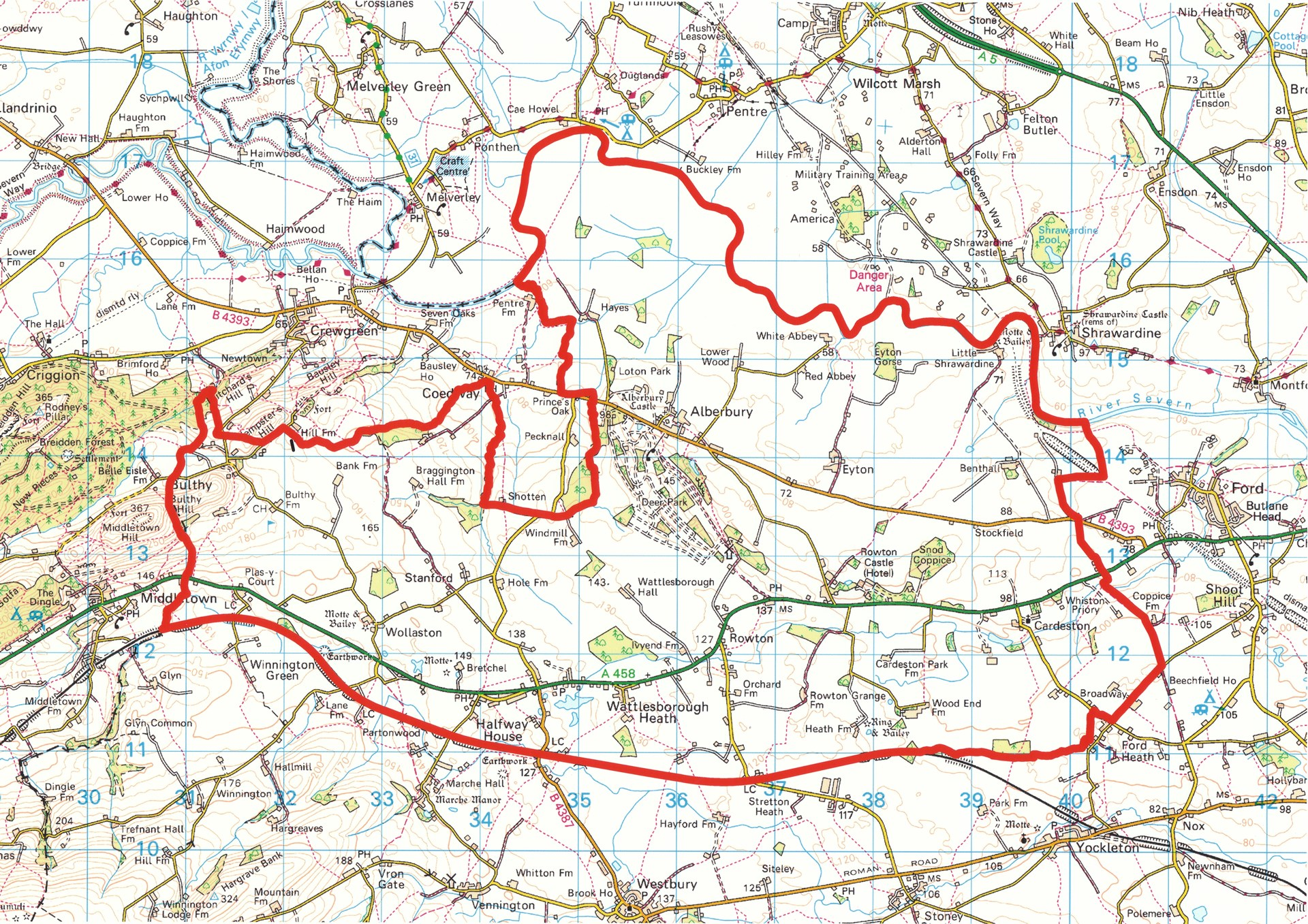 Alberbury with Cardeston Parish Map