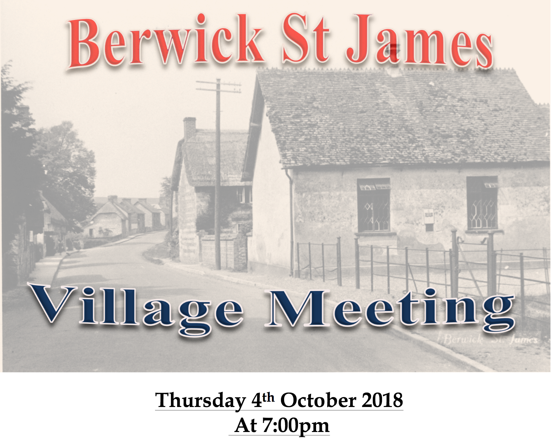 Berwick St James Parish 4th October '18