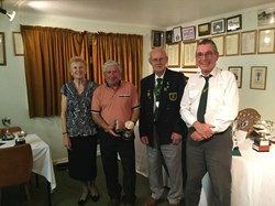 Otter Cup Winner Robin Gold (Pink Shirt) with Club  Presidents and Chairman