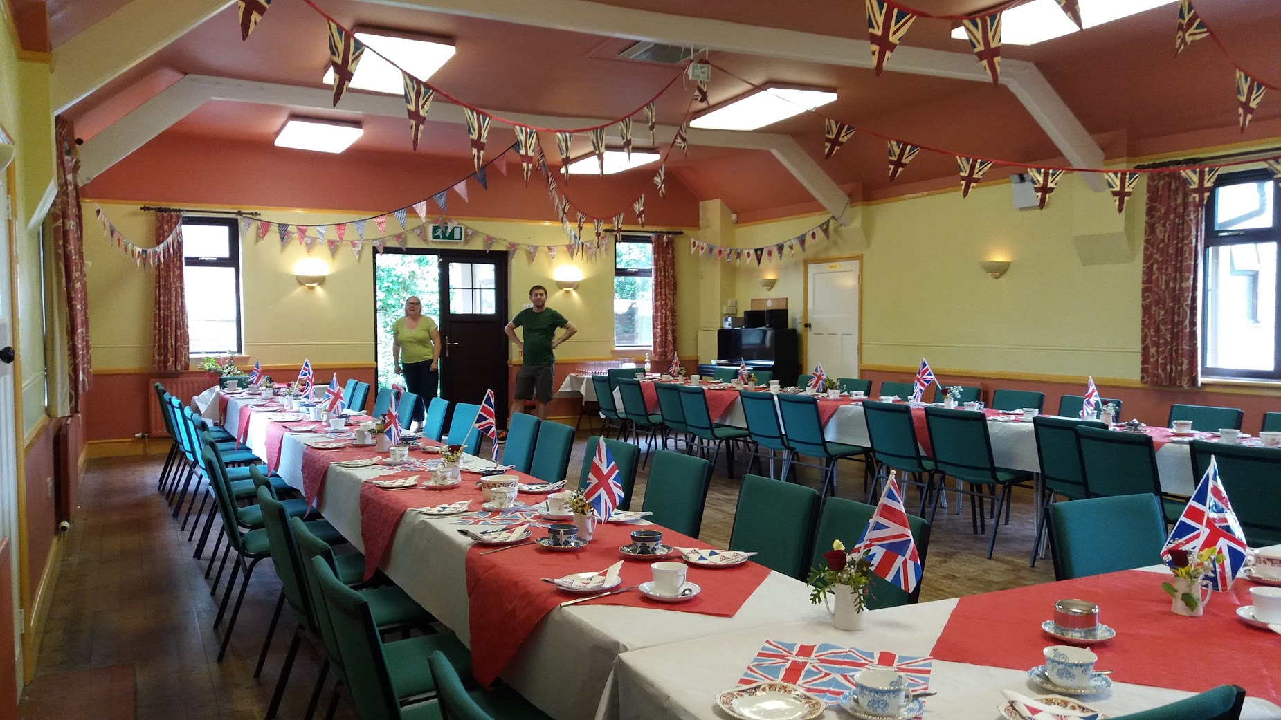 Village hall decked out for the Queen's 90th celebration