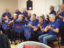 The QUO entertained members & guests at the February social