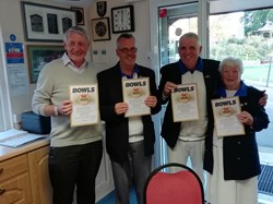 Hotshots, 2nd time for some!!! Michael Cunningham, Gareth Porter, Nelson Hamilton and Irene Fairall