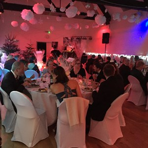 The Guests have arrived, enjoyed their Champagne & Canapes  & are seated