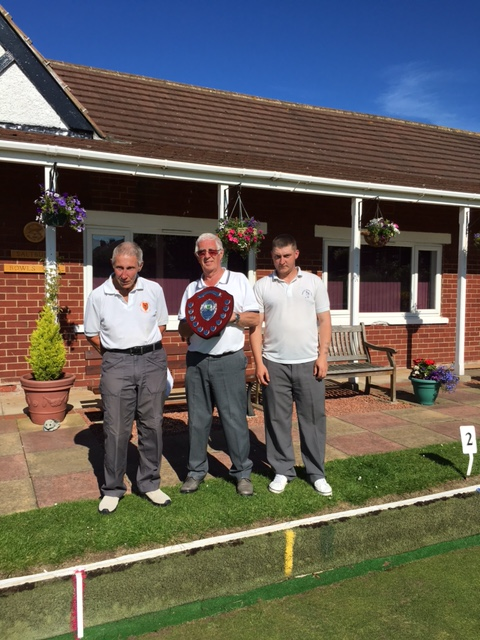 Winning team Pip Chinn, Graham Russell (Skip), Chris Fawcett