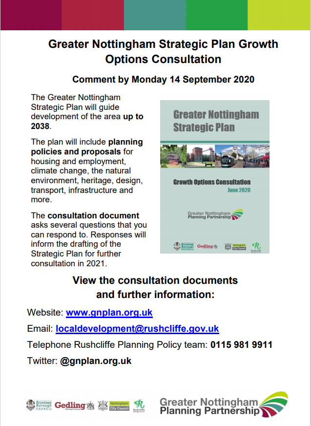 Greater Nottingham Growth Plan Poster