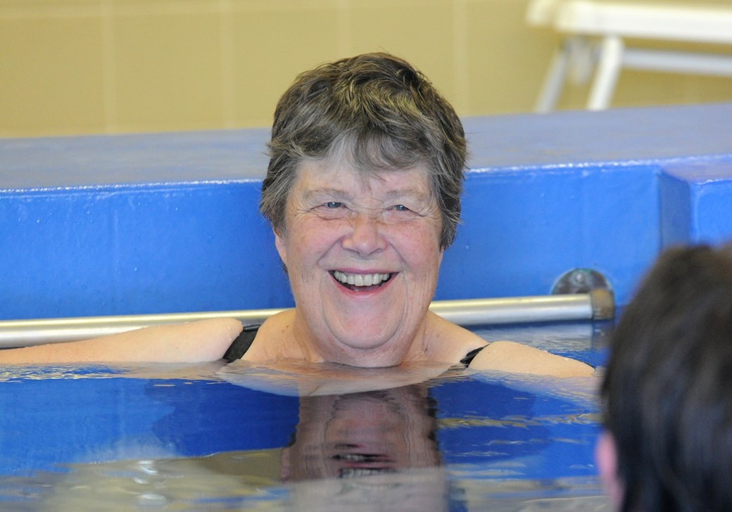 Gill during one of her aquatic physiotherapy sessions.