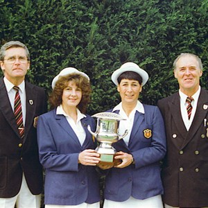 1989 EBA & EWBA National Mixed Fours Winners. Eddie Kavanagh, Janet Bishop, Pam Margrett, Mike Bishop.