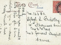 POst card to Pte Leonard Priestley