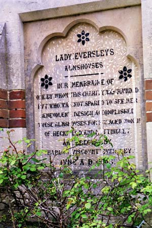 Lady Eversley Plaque