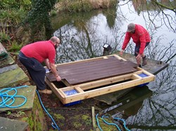 Start of assembly - the main decking